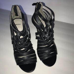 🌴 Bronx Braided Leather Caged Heels Sz 8.5